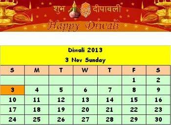 ... DIWALI Celebration Date is Sunday, November 3, 2013 | Bharat Ki