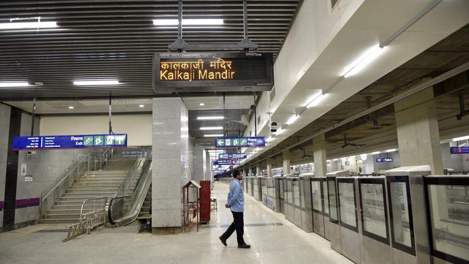 Kalkaji Mandir-Botanical Garden Metro to Start from 25 December, 2017